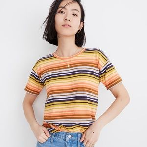 Madewell whisper cotton tee in Clearwater stripe
